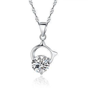 Jewelry - 2 Ct GORGEOUS round solitaire diamond pendant neck